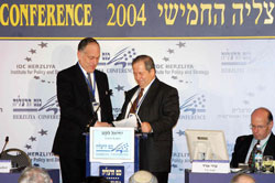 Ronald Lauder and Yehiel Leket at Herzliya Conference