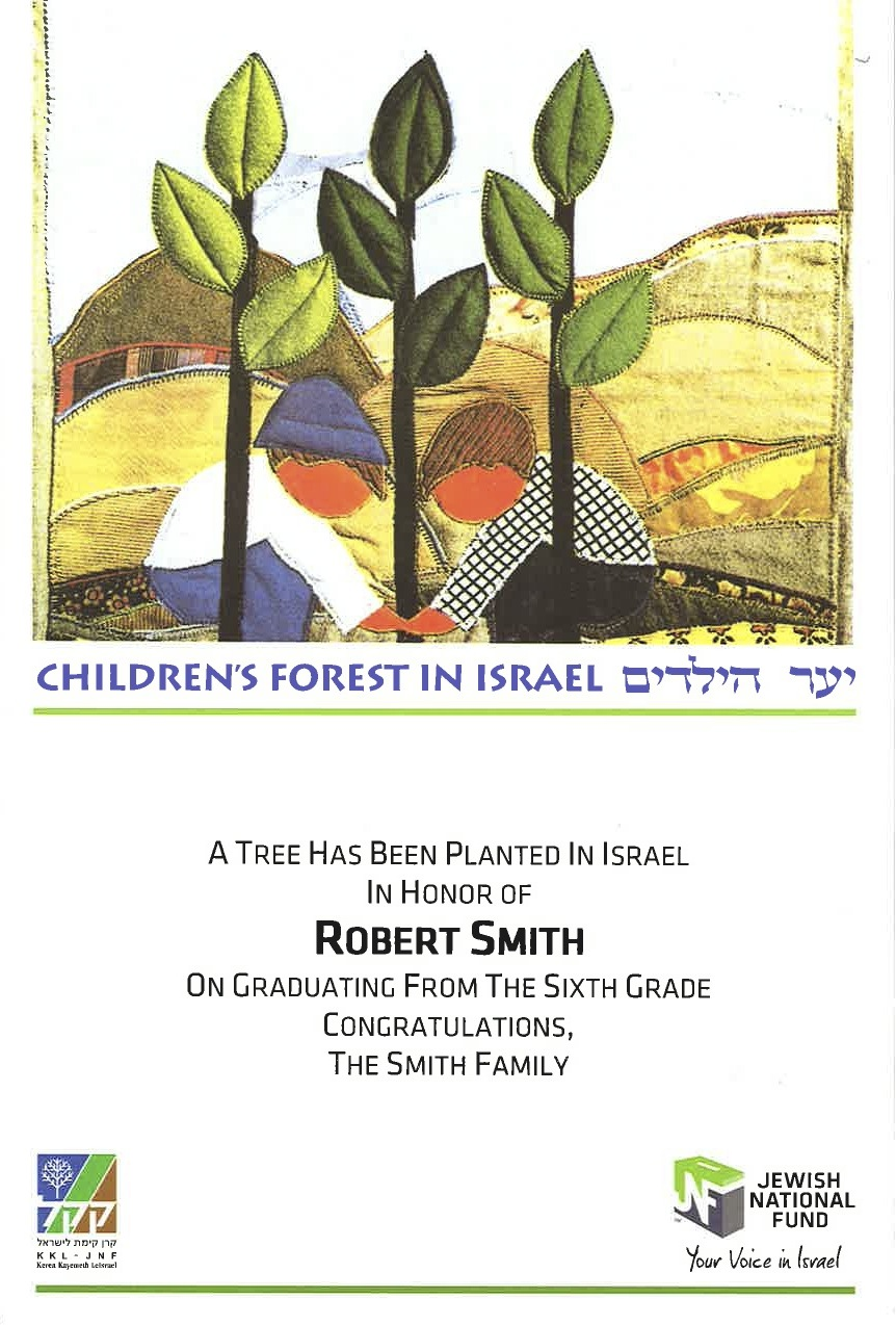 Children's Forest Certificate
